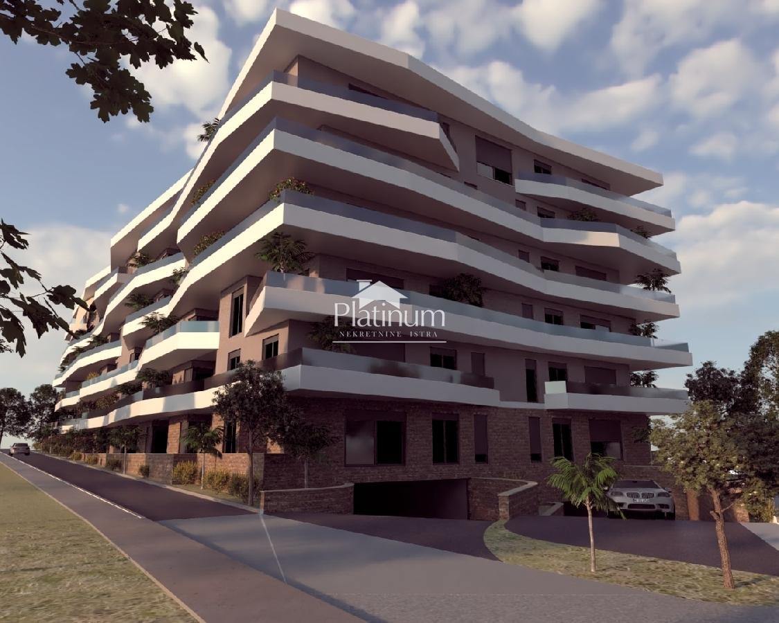 Stoja, Pula - novi projekt zgrade sa 39 stanova različite kvadrature - pogled na more