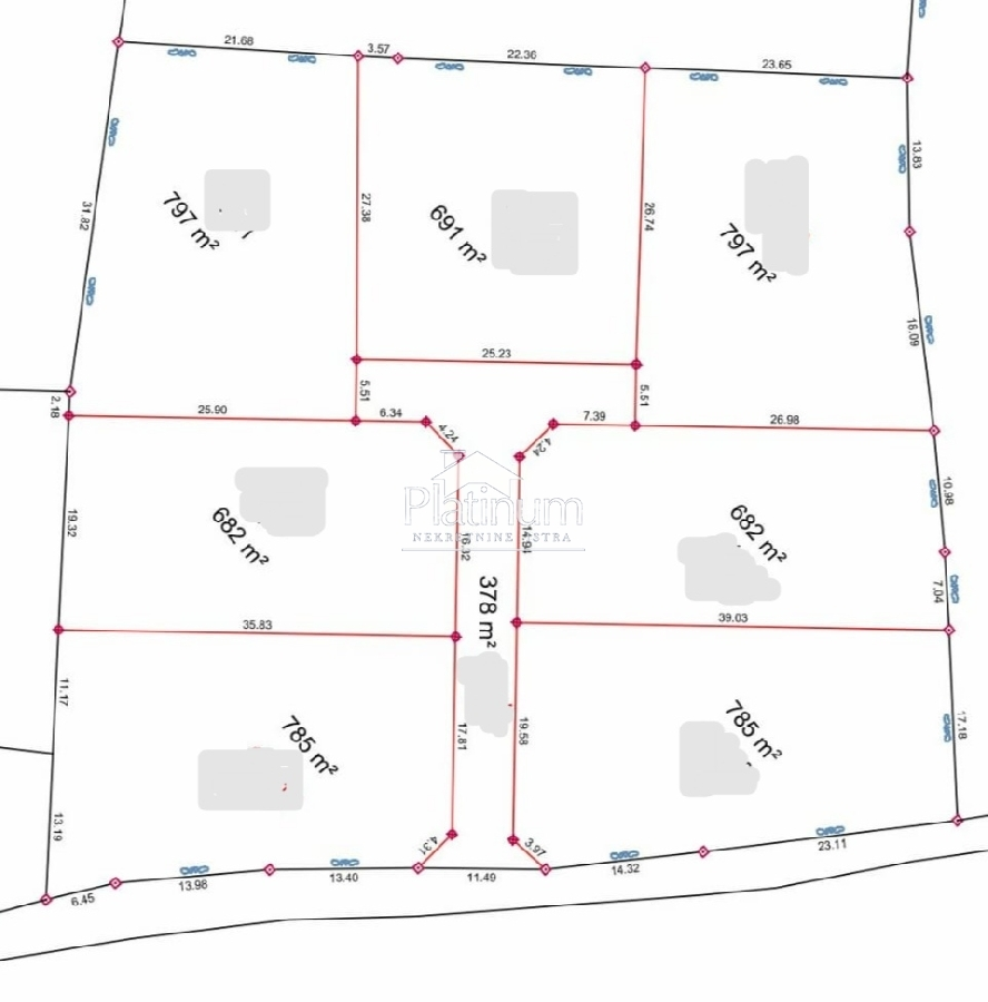 KRNICA, građevinsko zemljište 680m2. 40500Eur