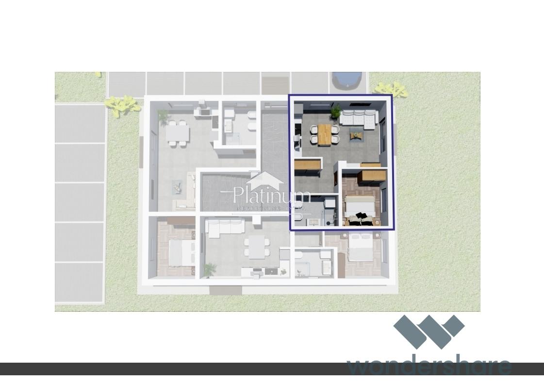 FAŽANA PEROJ, apartman 33m2 + 105m2 vrta!!! NOVO