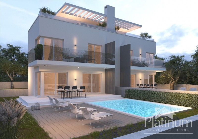 Istra, Medulin, Premantura, kuća sa bazenom 170m2, udaljenost od mora 100m