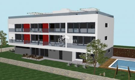 Istria, apartment in Medulin, under construction, building with swimming pool, sale