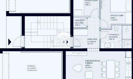 Istra, Medulin, apartman 84m2, 2SS, garaža, vrt, blizina mora, NOVO!!