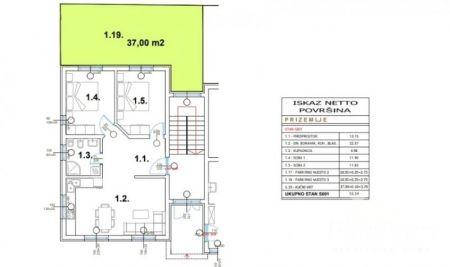 Stanovanje Pula, okolica, nova stavba - pritličje, 70,39m2