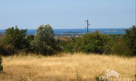 Istra, Vodnjan, Galižana, zazidljivo zemljišče 742m2, pogled na morje