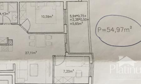 Pula, Stan na Monvidalu, 1.kat, 55m2 - novogradnja, NOVO