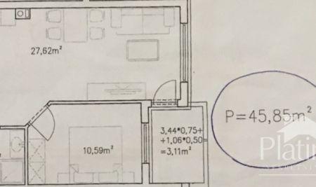 Stan na Monvidalu, Pula, 1.kat, 46m2 - novogradnja