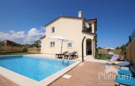 Istria, Marčana, beautiful house 120m2 with pool, sea view